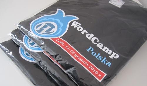 Koszulki zkonferencji WordCamp Polska 2010