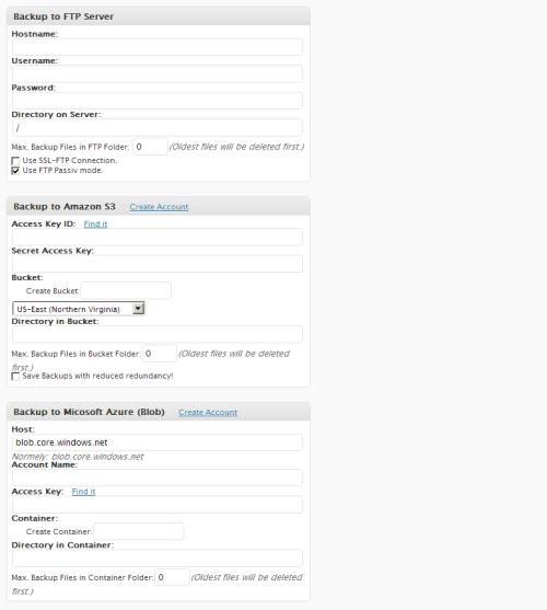 BackWPup - zakładka Jobs / Add New (2/3)