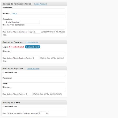 BackWPup - zakładka Jobs / Add New (3/3)