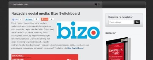 """Wpis """"Narzędzia social media: Bizo Switchboard"""" nablogu Pawła Tkaczyka. Jeśli się uczyć - toodnajlepszych :)"""