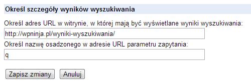 """Krok 3. """"Pobierz kod / Określ szczegóły wyników wyszukiwania"""""""