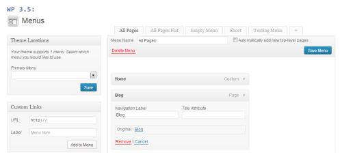 Zarządzanie menu - wersja 3.5