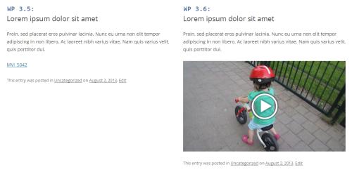 Odtwarzanie plików wideo - porównanie wersji 3.5 i3.6